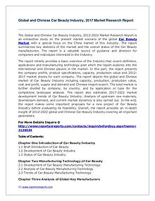 Global Car Beauty Industry Analyzed in New Market Report
