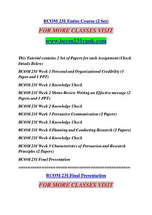 BCOM 231 RANK Great Stories Here/bcom231rank.com