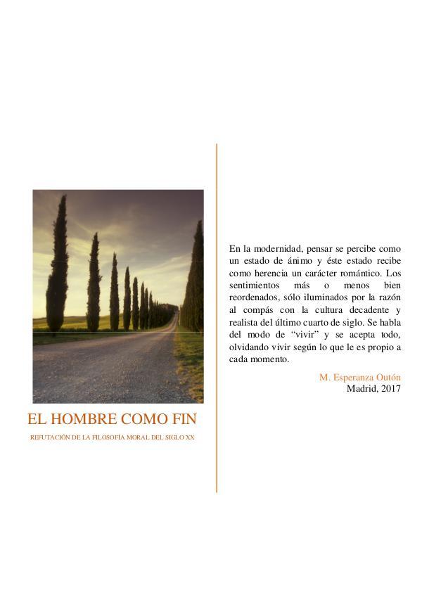 Mi primera revista Refutación de la filosofía moral del siglo XX