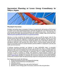 Lexus Group Consultancy in Tokyo, Japan