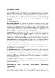 Tutorials on Informatica Data Quality