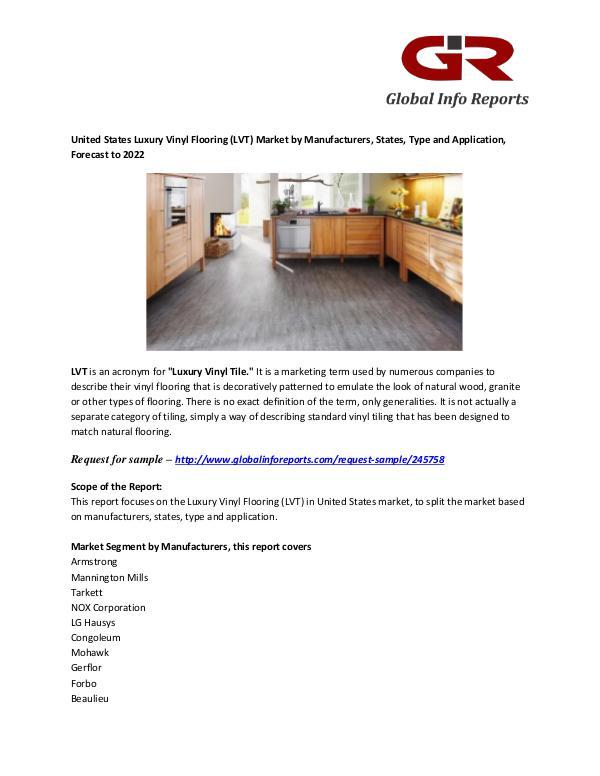 Luxury Vinyl Flooring (LVT) Market :Armstrong, Forbo Luxury Vinyl Flooring (LVT) Market