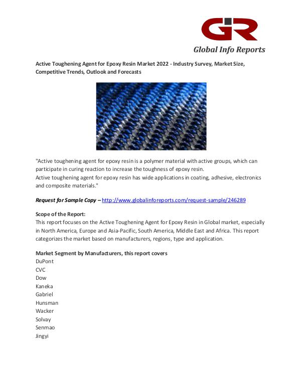Active Toughening Agent for Epoxy Resin Market Analysis, Market Size Active Toughening Agent for Epoxy Resin