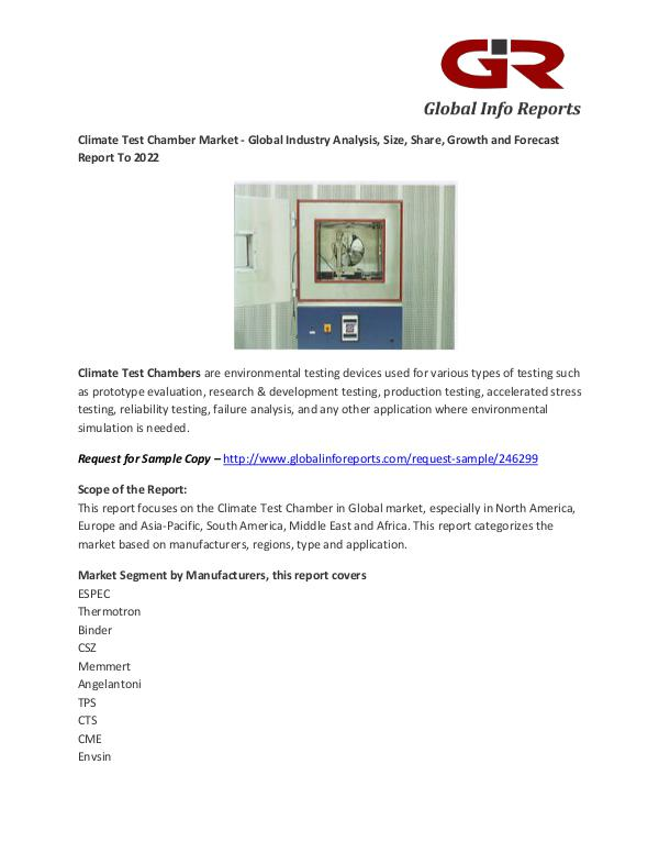 Climate Test Chamber Market Climate Test Chamber Market