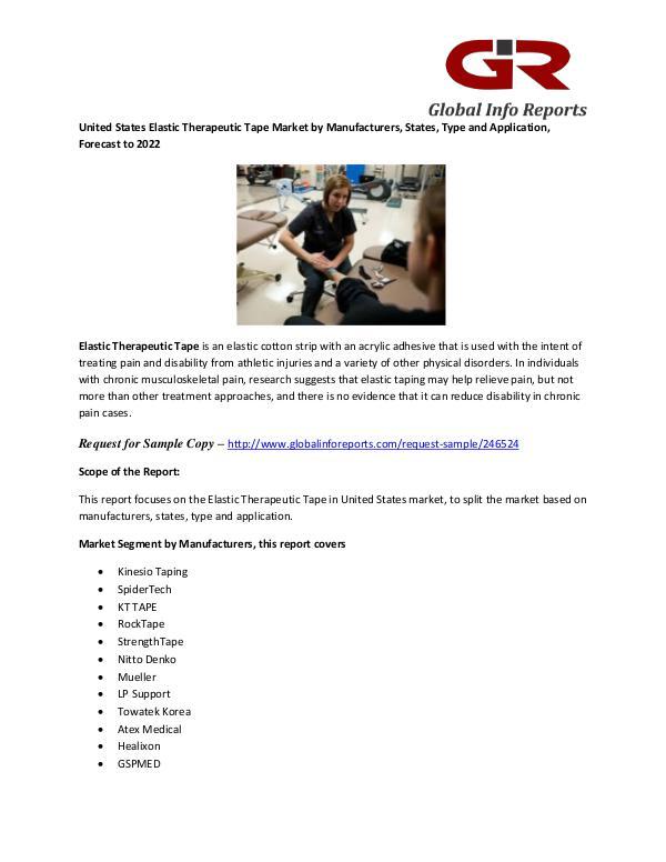 United States Elastic Therapeutic Tape Market by Manufacturers Elastic Therapeutic Tape Market