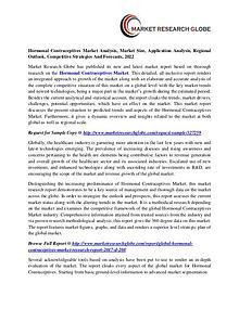 Hormonal Contraceptives Market Analysis, Market Size, Application