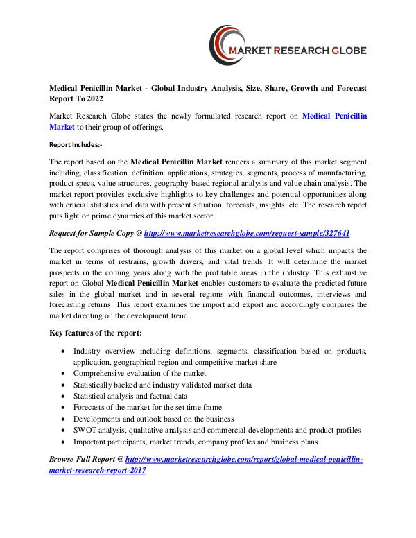 Medical Penicillin Market - Global Industry Analysis Medical Penicillin Market