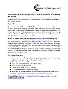 Surgical Nails Market 2022 - Industry Survey, Market Size,