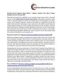 Irritable Bowel Syndrome Drugs Market - Industry Analysis