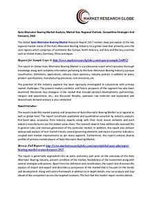 Auto Alternator Bearing Market Analysis, Market Size, Regional
