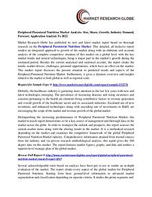 Peripheral Parenteral Nutrition Market Analysis, Segment, Trends