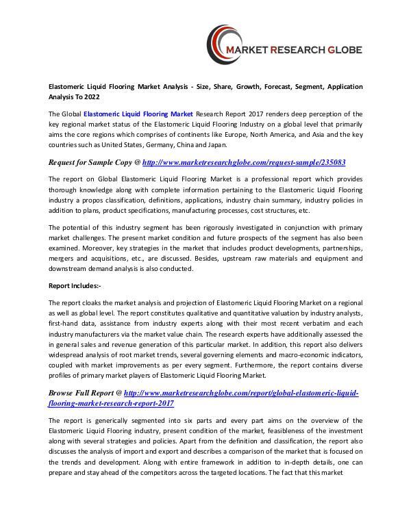 Elastomeric Liquid Flooring Market Size, Share, Analysis, Industry Elastomeric Liquid Flooring Market