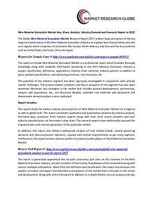 Wire Material Granulator Market Analysis, Segment, Trends