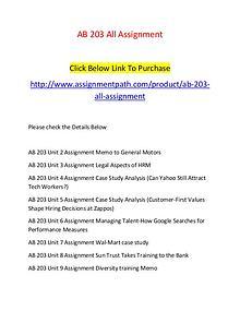 AB 203 All Assignment-Assignmentpath.com