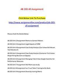 AB 203 All Assignment-Assignmentfox.com