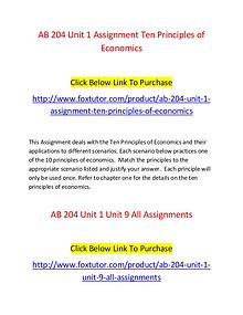 AB 204 All Assignments