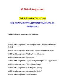 AB 209 all Assignments