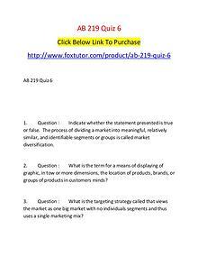 AB 219 Quiz 6