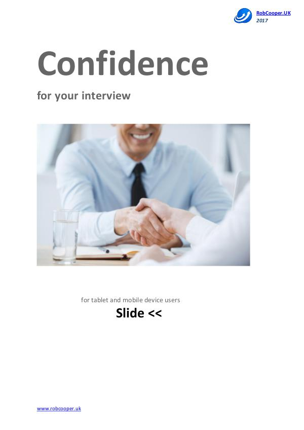 Job Interview Techniques by www.robcooper.uk Confidence for your interview