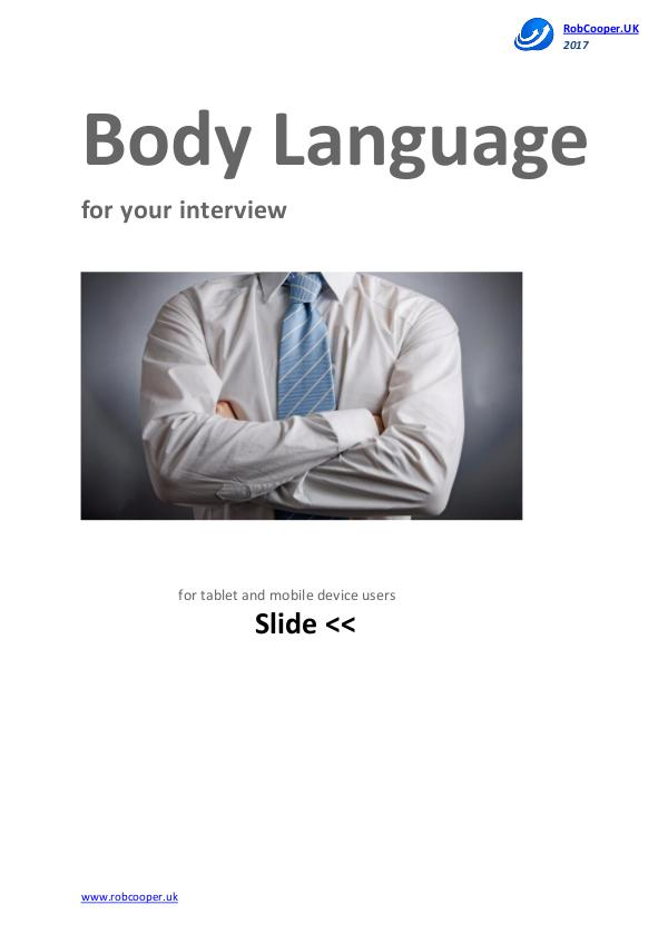 Body Language for your interview