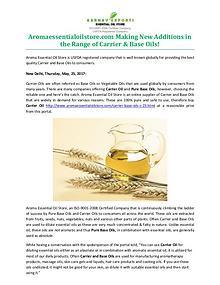 Aromaessentialoilstore.com Making New Additions in the Range of Carri