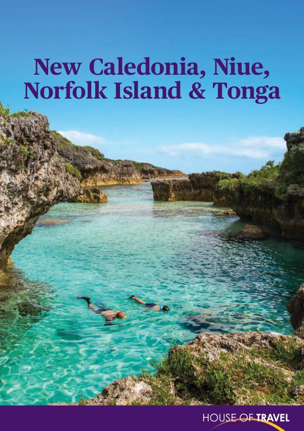 House of travel New Caledonia, Niue, Norfolk Island & Tonga Brochu