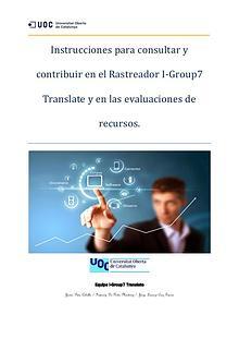Instrucciones de uso para nuestro rastreador I-Group 7 Translate