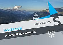 Regiun Surselva - Einladung Jubiläum