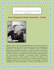 Devin Fitzpatrick Interior Consultant - Profiel
