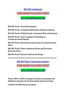 BSS 481 STUDY Great Stories Here/bss481study.com