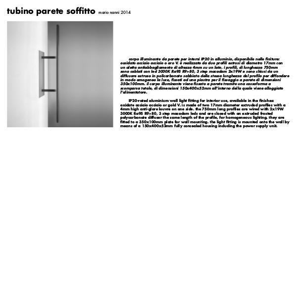 Viabizzuno by Cirrus Lighting - Architectural Lighting Range Tubino Wall by Cirrus Lighting