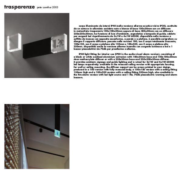 Viabizzuno by Cirrus Lighting - Architectural Lighting Range Trasparenze Emergency Signage by Cirrus Lighting