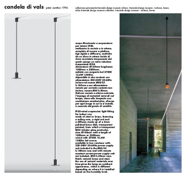 Candela Di Vals by Peter Zumthor