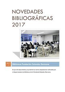 Novedades Bibliográficas 2017