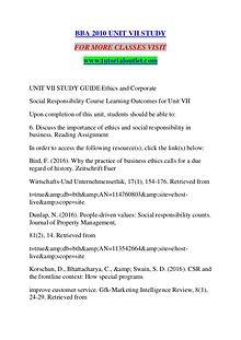 BBA 2010 UNIT VII STUDY / TUTORIALOUTLET DOT COM