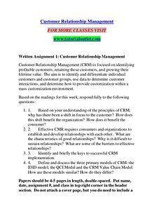 CUSTOMER RELATIONSHIP MANAGEMENT / TUTORIALOUTLET DOT COM