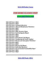 GLG 220 EDU Let's Do This /glg220edu.com
