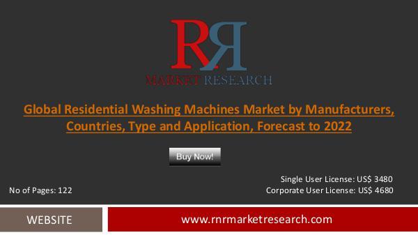 Residential Washing Machines Market Booming Demand in Year 2017-018 Residential Washing Machines
