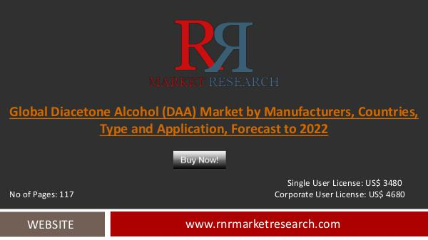 Latest Worldwide Diacetone Alcohol (DAA) Market 2017-2022 Diacetone Alcohol (DAA)