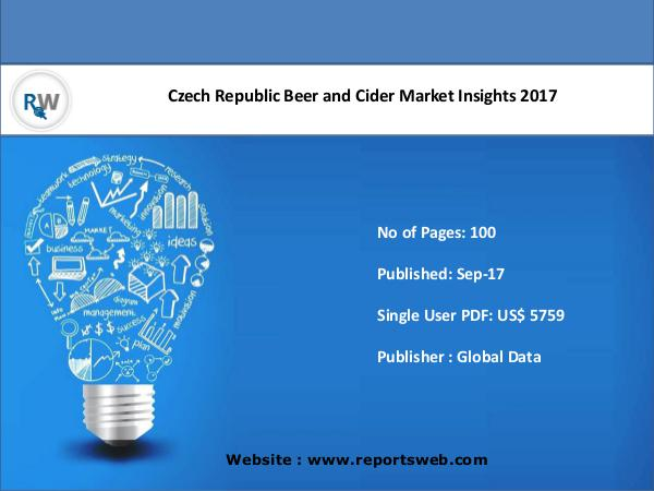 Czech Republic Beer and Cider Market Insights 2017