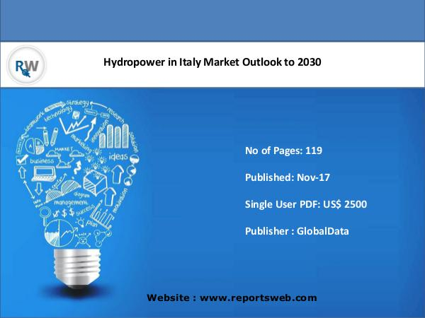 Hydropower in Italy Market Outlook to 2030
