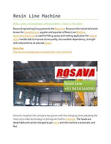 Resin Line Manufacturers