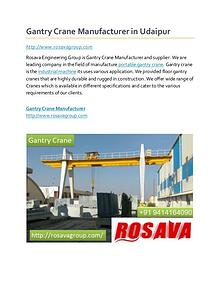 Gantry Crane Price