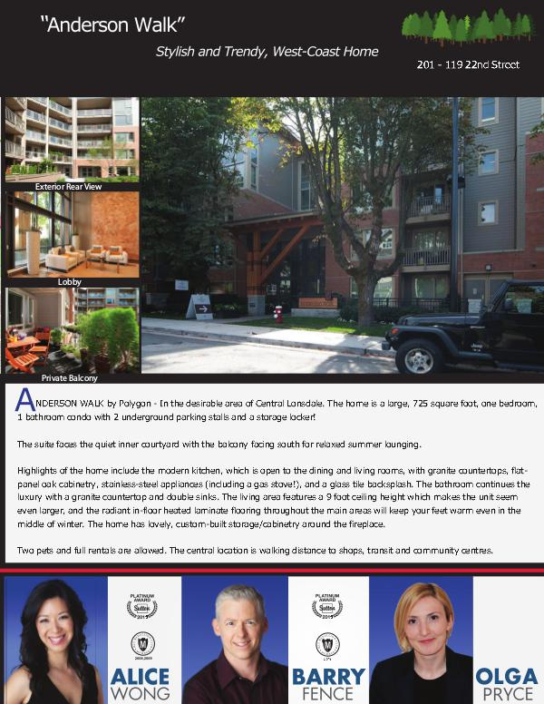 Active Listings - North Vancouver Suite 201-119 22nd Street