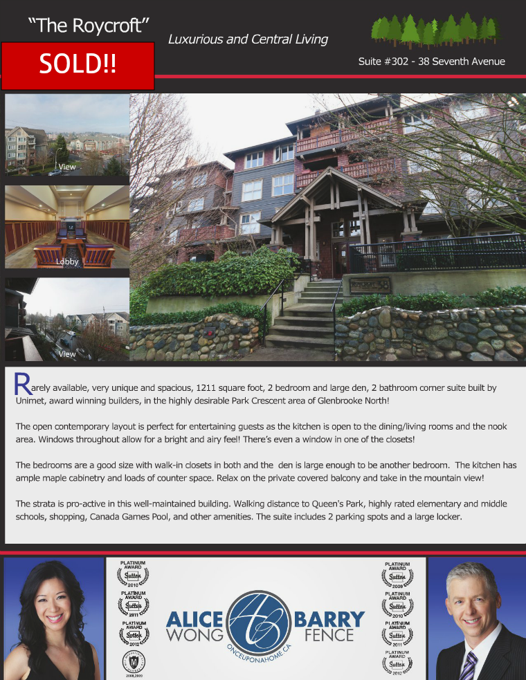 Sold Listings - New Westminster Aug 2013