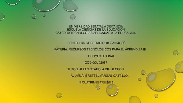 """""""Revista Digital de Ciencias los componentes del Ambiente"""