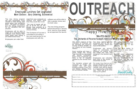 The Orchards Employee News Nov 2013