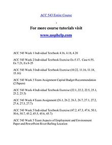 ACC 543 help A Guide to career/uophelp.com
