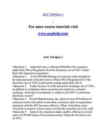 ACC 544 help A Guide to career/uophelp.com