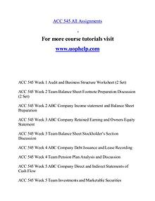 ACC 545 help A Guide to career/uophelp.com